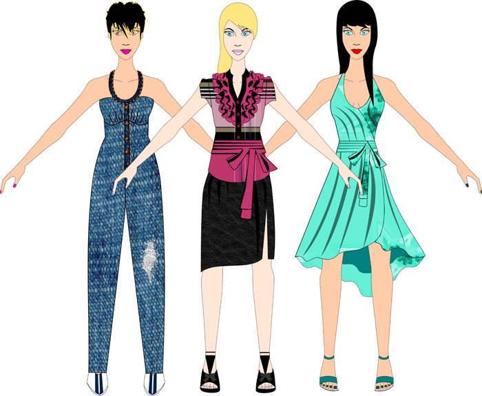 Design your own Rompers, Wrap Dresses and Ruffle Blouses for women