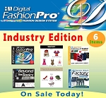 2ac- Digital Fashion Pro Industry Edition Clothing Design Software - 6 Items! Digital Fashion Pro Basic + 5 Upgrades (Style Pack, Fabric Library, Beyond the Basics, Denim Wash Factory, Shoes & Accessories)