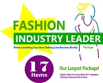 7dd - Industry Leader Package - Our Largest Package! 17 Items! Includes Digital Fashion Pro Luxury Edition (13 Items (Basic V8 + 12 Upgrades)) + How to Start Your Own Clothing Line Business Pack. (4 Items) + FREE SHIPPING