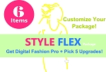 1c- Digital Fashion Pro Style Flex Package - Get Digital Fashion Pro Fashion Designer Software + 5 Upgrades of Your Choice!