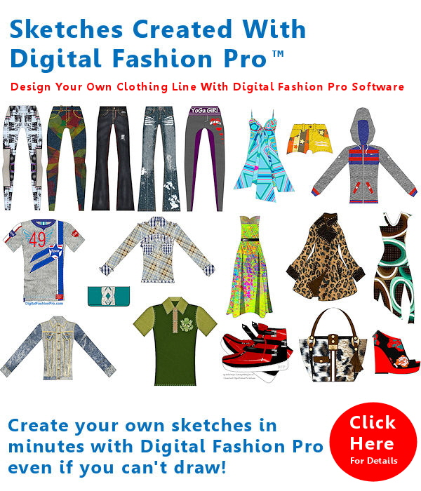 Digital Fashion Pro Sketch Info-Graphic - how to design clothes