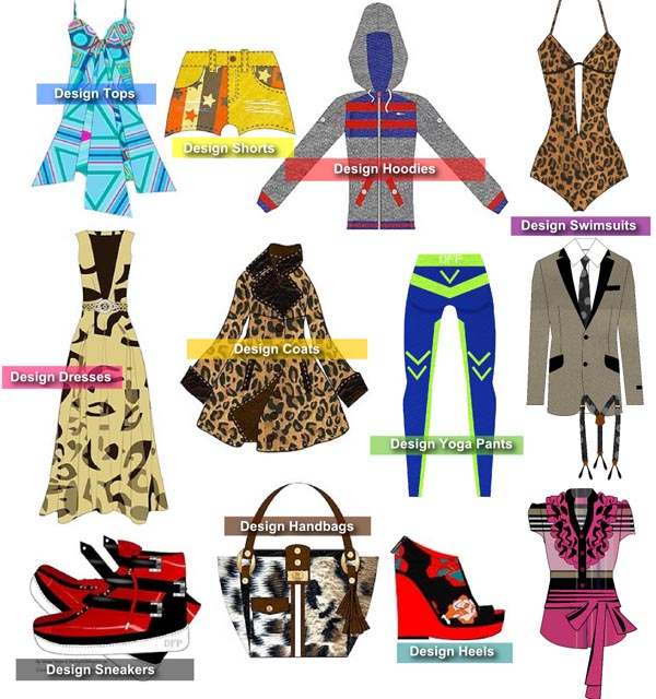 Design Shoes - Dresses - Heels - Hoodies with Digital Fashion Pro