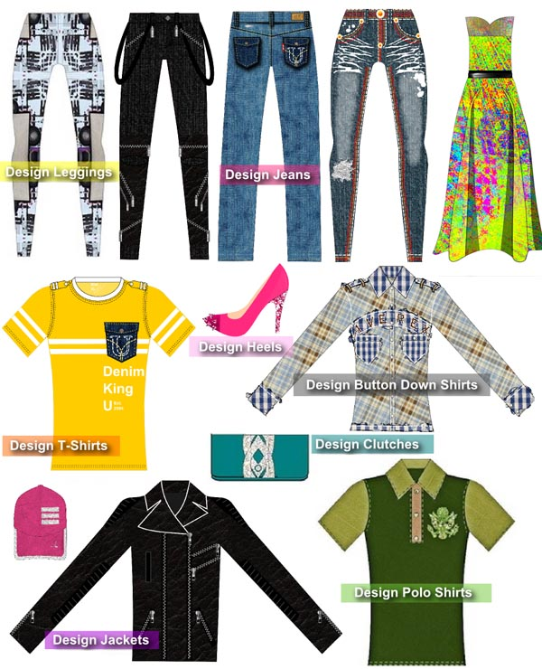 Jeans and Shirts Infographic for DFP