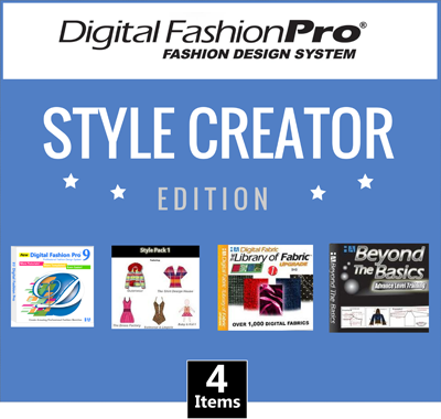 Digital fashion pro v8 basic fashion design software for Clothing logo design software