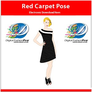 5a- Red Carpet Womens Pose Download. Comes with Red Carpet Pose Model + an Assortment of Garment Templates to go with the model.