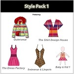 2b- Style Pack - Design dresses, swimwear, hoodies, baby clothing, outerwear, jackets and more.