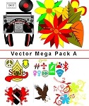 VAG-Vector Art Mega Pack A. Over 200 Art Files / 23 Packs Combined into One Mega Pack. Use in your designs. This is an Electronic Item.