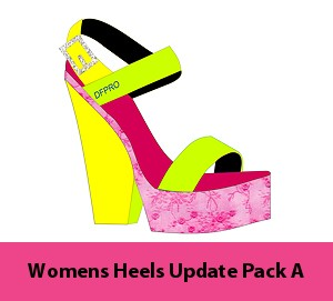 5b- Womens Heels Pack A - Trendy Collection of Heel of Templates. Create your own shoe designs. Download this item after purchase.