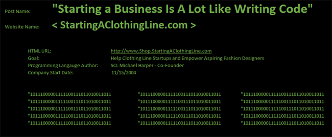 Starting a business is like writing code