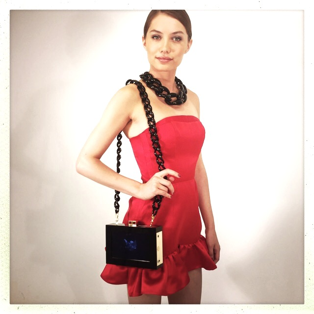 Diana Broussard handbag with LED Screen Technology