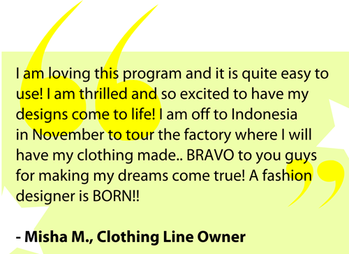 Client Quote on staringaclothingline.com