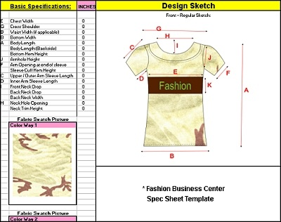 Starting your own clothing line and creating the necessary Spec sheets with the Fashion Business Center
