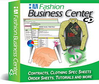 Fashion Business Center CD - spec sheet templates for garment measurements