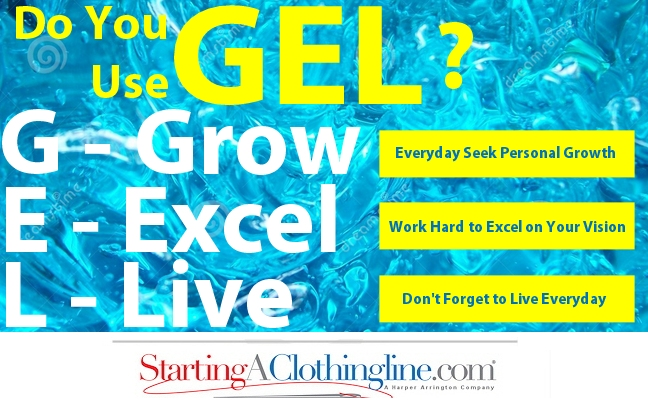 GEL - Inspirational Info-graphic for starting a clothing line or fashion business