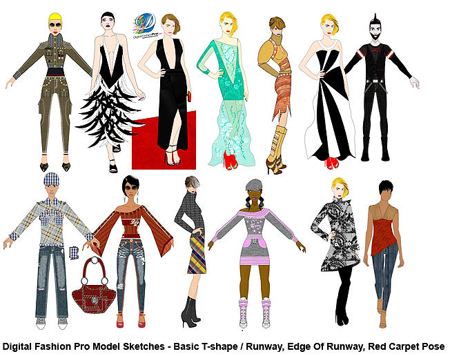 fashion design course - sketch 5