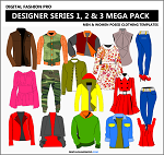 7bd3- Designer Series 1, 2 and 3 Mega Pack - Womens Wear and Menswear By Designer Michael H.