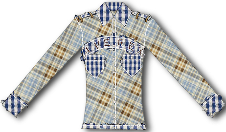 Plaid Button Up Shirt by Digital Fashion Pro Software