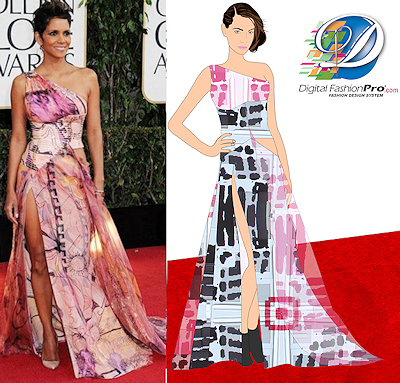 Halle Berry Dress Golden Globe Awards