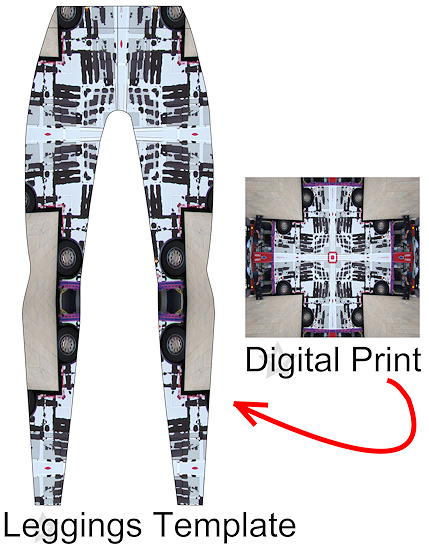 Example of Digital Fabric in a fashion design