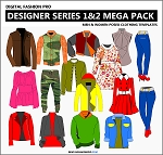 7bd2- Designer Series 1 and 2 Mega Pack - Womens Wear and Menswear By Designer Michael H.