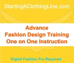xBServ - Advance Fashion Design Training Option 2 - 10 Total Hours of Training
