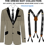 6bc- Dress Suit Jacket Collection - Suit Jackets, Ties, Suspenders, Bonus Denim Jacket and Tees. Electronic Download Item. Will Be Emailed to you after purchase.