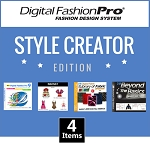 1c- Digital Fashion Pro V9 Style Creator Edition - 4 Items! Digital Fashion Pro Basic + 3 Upgrades (Style Pack, Fabric Library, Beyond the Basics). Everything included in Basic + Design Dresses, Tops, Swimwear, Hoodies, Jackets, Baby
