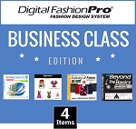 1c- Digital Fashion Pro V9 Business Class Edition - 4 Items! DFP Basic + 3 Upgrades (Style Pack 1, Fabric Library, Beyond the Basics). Everything in Basic + Design Dresses, Swimwear, Hoodies, Jackets, Baby Clothing. In Stock - Ships Out In 3 Business Days