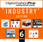 1b- Digital Fashion Pro V9 2021 Industry Edition Clothing Design Software - 6 Items! DFP Basic + 5 Upgrades (Style Pack, Fabric Library, Beyond the Basics, Denim Wash Factory, Shoes & Accessories). In Stock. Ships Out In 3 Business Days.