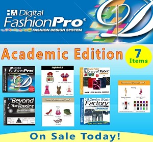 1d- Digital Fashion Pro V9 Academic Pack. 7 Items! (Includes The Storyboard Creator Upgrade + everything in the Industry Edition)