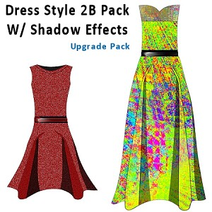 5bb- Dress Style 2B Pack. Electronic Download Item. Will Be Emailed to you after purchase.